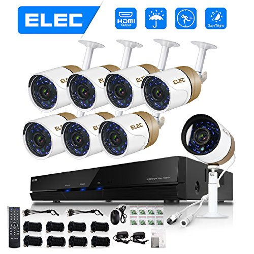 ELEC 8CH HDMI 960H DVR 1500TVL Outdoor Indoor Day Night IR-C
