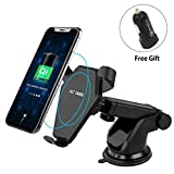 Upworld Wireless Car Charger Mount, Qi Fast Charger 360° Rotating Car Air Vent Phone Mount Holder for iPhone X/8/8 Plus, Samsung Galaxy Note 5/S6 Edge+/S7, LG Nexus 4 and Qi Enabled Devices