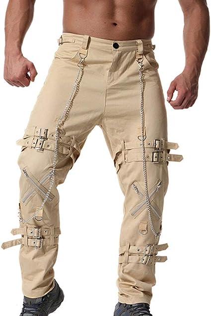Hombres Pantalones De Lapiz Pantalones Goticos Al Aire Libre Punk Pantalones Pitillo Pantalones Pantalones Pantalones De Baile Para Hombre Amazon Es Ropa Y Accesorios