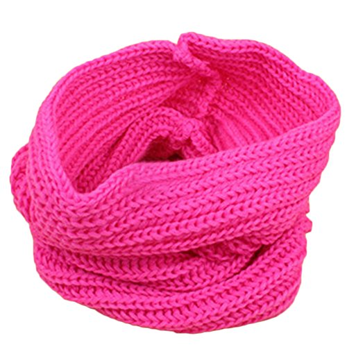 Shineweb Kids Fashion Thick Knitted Winter Warm Infinity Scarf Neck Warmer