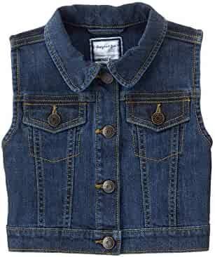 Gymboree Big Girls' Short Sleeve Denim Vest