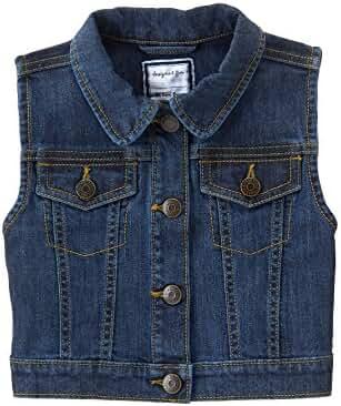 Gymboree Big Girls' Short Sleeve Denim Vest