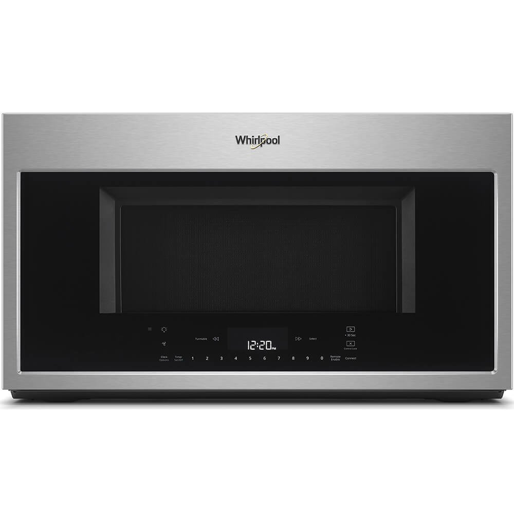 Whirlpool 30 in W 1.9 cu. ft. Smart Over the Range Convection Microwave in Fingerprint Resistant Stainless Steel