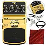 Behringer UC200 Ultra Chorus Guitar Effect Pedal and Accessory Bundle from Photo Savings