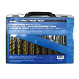 Task Tools 09260 170-Piece Tuf-E-Nuf Titanium-Coated HSS Drill Bit Set with Case