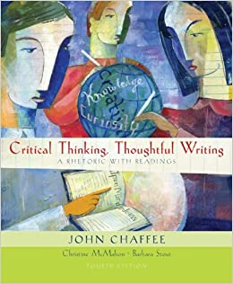 Book Critical Thinking, Thoughtful Writing (with 2009 MLA Update Card) by John Chaffee (2009-05-29)