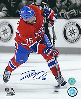 Autographed P.K. Subban 8x10 Montreal Canadiens Photo