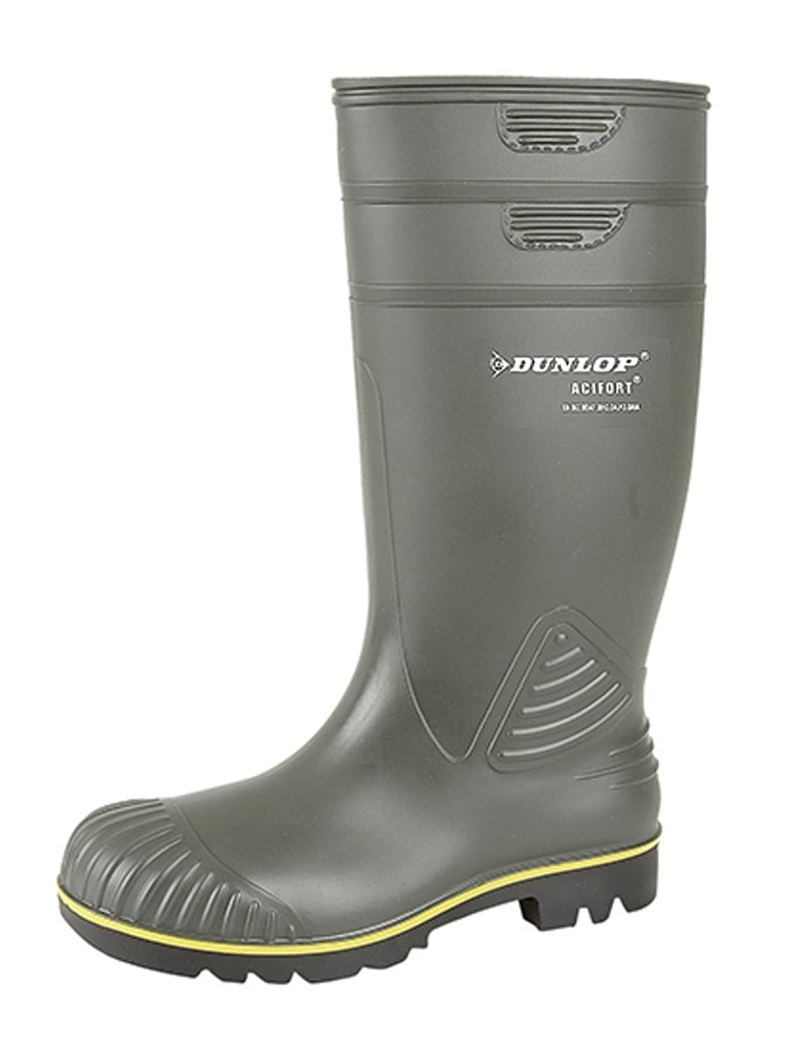 2ef798a00f7a Dunlop Unisex Acifort Heavy Duty Full Safety Wellington Boot  Amazon ...