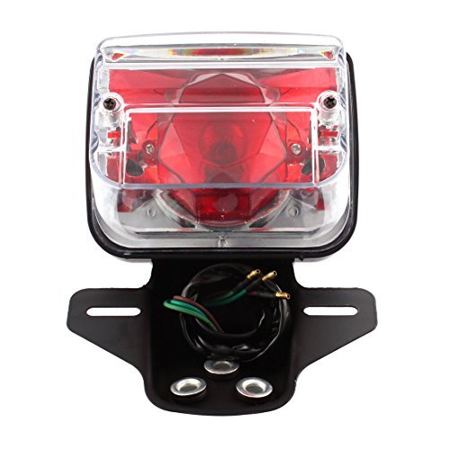 eDealMax moto Phare arrire LED rouge frein Feux