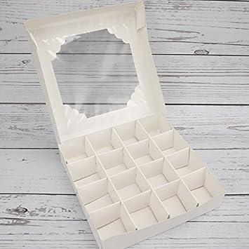 Economy White Window Sweet Box /& Insert 100