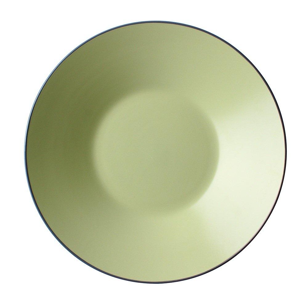 Bowl Western Deep Dish/Matte Keramikplatte/frische Salatteller/Obstteller / Suppenteller/Flache Schüssel/Eimer Teller / 12-Zoll-große Scheibe