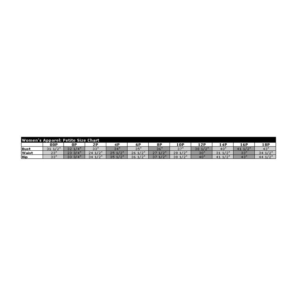 Xscape Size Chart