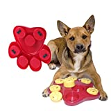 Dog Food Treat Dispensing Boredom Interactive Game Puzzle Training Finder Toys, iMichelle Paw Hide Treats Toy Slow Feeder Bowl Helps Prevent Bloating/Upset/Diarrhea, Entertaining and Brain-Engaging