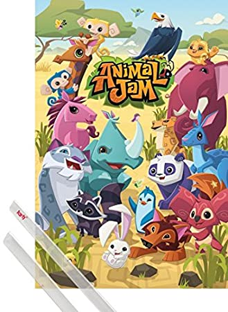 Image of: Purple Image Unavailable Kisspng Amazoncom 1art1 Poster Hanger Animal Jam Poster 36x24 Inches