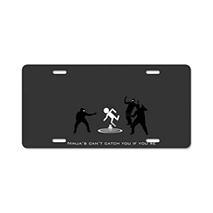 Amazon.com: Humor Ninja Video Game Car Plate Tag Accessories ...