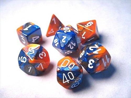 格安SALEスタート! Chessex Manufacturing 26452 B00OU6JB2I Cube 7 Gemini Set & Of 7 Dice - Blue & Orange With White Numbering B00OU6JB2I, 梱包資材の店LALACHYAN:5e846cae --- arianechie.dominiotemporario.com