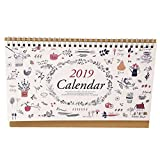Exttlliy December 2019 Desk Monthly Calendar with Stand Weekly Monthly Yearly Organizer for Office Home (Flower-1)