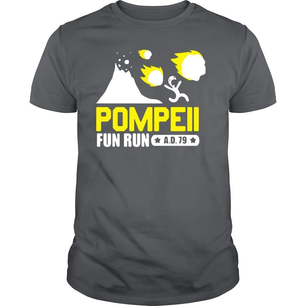 Pompeii Italy Fun Run 79 Ad Volcano T Shirt