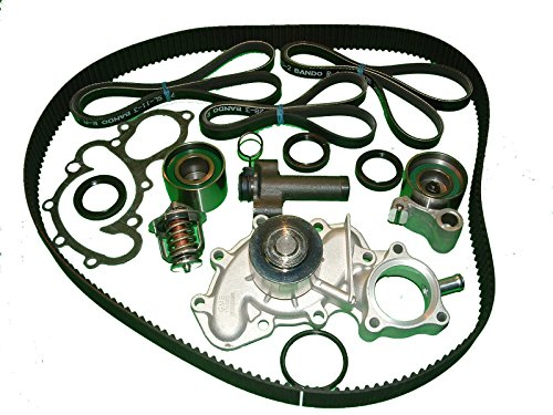 Timing Belt Kit Replacement for Toyota 4runner 1996 to 2002 3.4L V6 Toyota Tacoma 1995-2004 vehicles with Ol Cooler Aisin Water pump Mitsuboshi Timing Belt Bando Drive Belts Japanese seals GMB Bearing