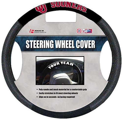 Fremont Die NCAA Oklahoma Sooners Poly-Suede Steering Wheel Cover