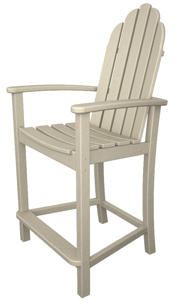 Amazon.com: POLYWOOD Adirondack Counter Height Chair, Sand: Garden U0026 Outdoor
