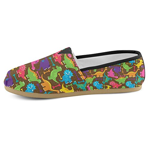 Mocassini Donna Interestprint Classico Canvas Casual Slip On Fashion Scarpe Sneakers Flats Multi 31