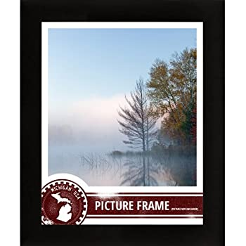 craig frames 1wb3bk 11 by 14 inch picture frame smooth wrap finish 1 inch wide black