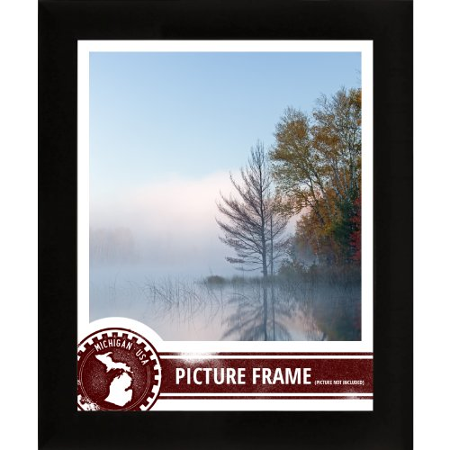 Craig Frames 1WB3BK 11 by 14-Inch Picture Frame, Smooth Wrap Finish, 1-Inch Wide, Black
