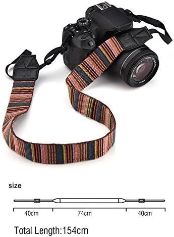 Universal Polyester Fabric Shoulder Neck Camera Belt Strap 154cm Long 1cm Wide Strap For DSLR Cameras Value-5-Star