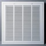 ac register filter - 16 x 16 RETURN FILTER GRILLE - Easy Air FLow - Flat Stamped Face by Grills & Registers