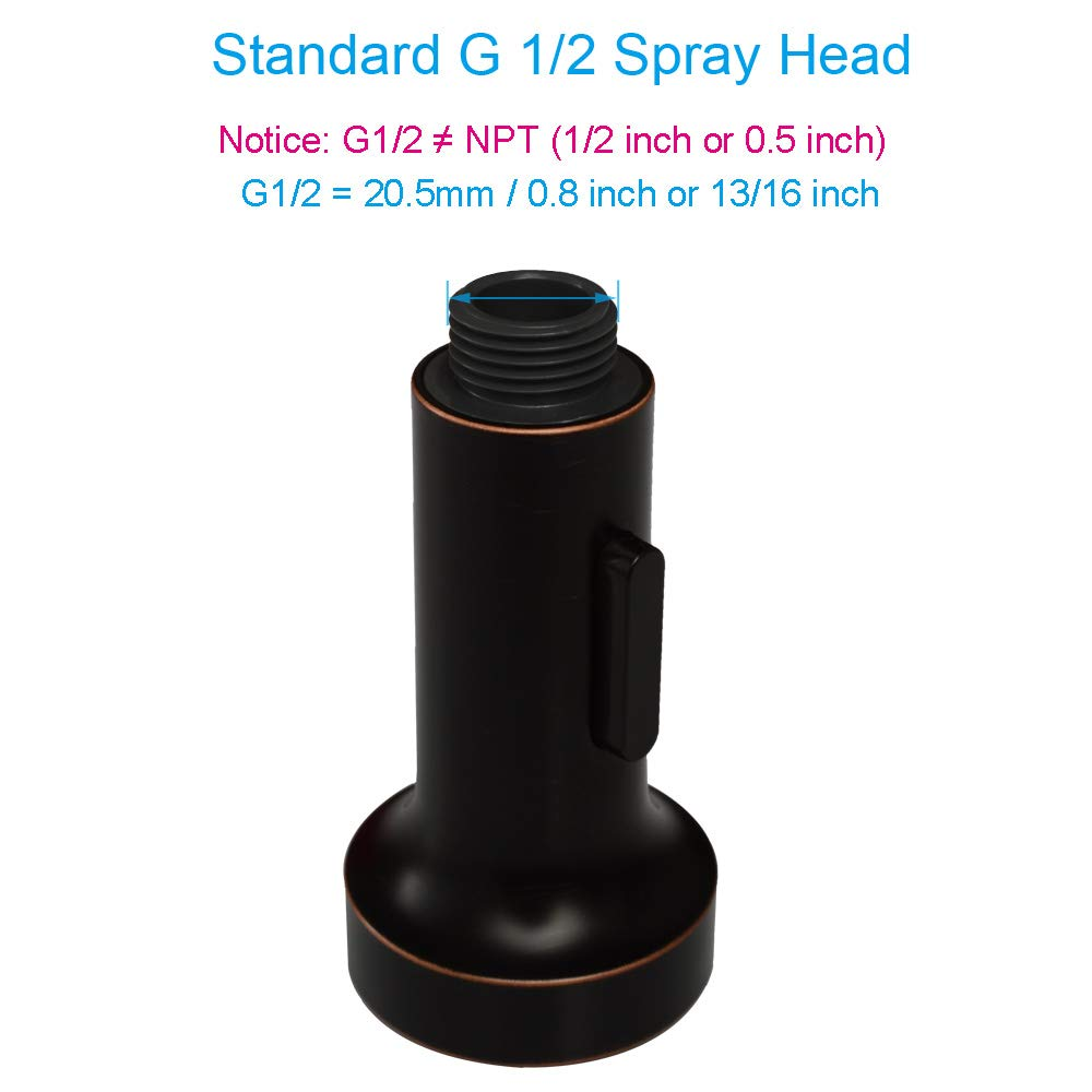 """Bathroom Kitchen Sink Tap Nozzle 2-Function Oil Rubbed Bronze Classic Functional Spout Faucet Replacement Head APLusee Pull Out Shower Hose Sprayer G 1//2/"""" Male Connector"""