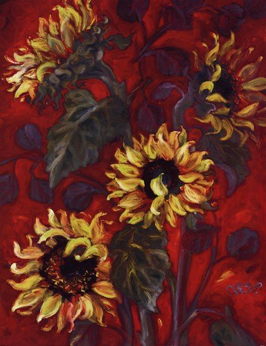 (Sunflowers I by Shari White - 27x35 Inches - Art Print Poster )