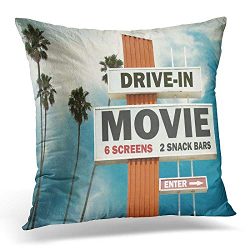 - Emvency Throw Pillow Cover Green Theater Aged and Worn Vintage of Drive Decorative Pillow Case Home Decor Square 18