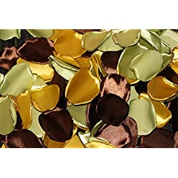 Fall Wedding, Olive Rose Petals, Gold Rose Petals, Chocolate Petals, Set of 100, Flower Girl Petals, Dark Brown Rose Petals, Blush Rose Petals, Birthday Party