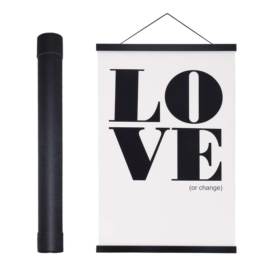"27x40 Poster Frame, Magnetic Wood Wooden Poster Hanger Frame Frames for Photo Picture Canvas Artwork Wall Hanging (1 Pack, 27"", Black)"