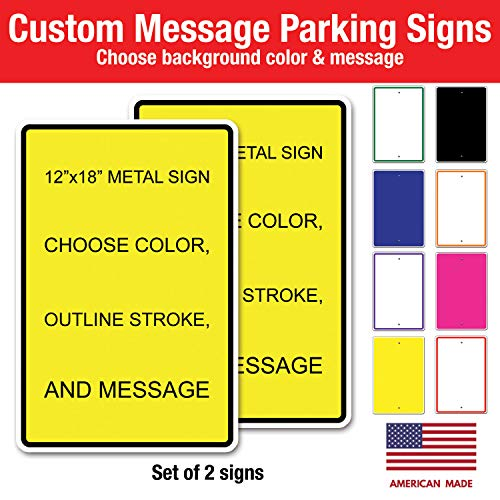 Signs No Personalized Parking (Custom Metal Sign 12