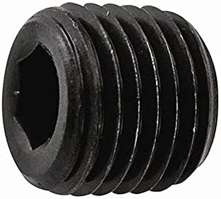 product image for Holo-Krome 12002, 1/16 NPTF Socket Head Pipe Plug, 7/8 Taper, Flush Seal, Steel, 100/Pk