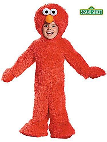 [Elmo Extra Deluxe Plush Costume, (6-12 Months)] (Elmo Plush Jumpsuit Infant & Toddler Costumes)