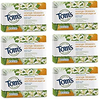 product image for Tom's of Maine Natural Beauty Bar Soap, Orange Blossom With Moroccan Argan Oil, 5 oz. 6-Pack