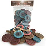DocaDisc 30PC - 2 inch Roloc Sanding Disc Mixed Pack // Surface Conditioning Discs // Roloc Disc/Air Grinder Disc for Surface prep, Paint Stripping, Grinding & Finishing (Course/Medium / Fine)