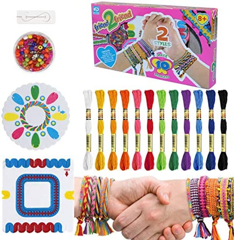 Friendship Bracelet Making Kit With Floss Arts And Crafts Kit For Kids To Design HOWAF Make Your Own Braided Friendship Bracelets Charms Beads