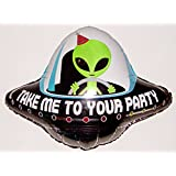 "29"" Alien Party Flying Saucer Balloon Party Favor Anti-Gravity Hovering Flying Floating String-less Toy"