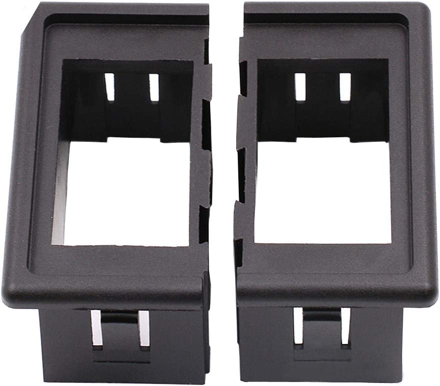 ESUPPORT Car Auto Toggle Rocker Switch Bar Dash Board Panel Switch Holder Housing Cover Black