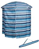 Trademark Innovations 6.5′ Portable Pool & Beach Cabana Sun Shelter with 50+ UV Protection and Carry Bag (Blue Stripe)