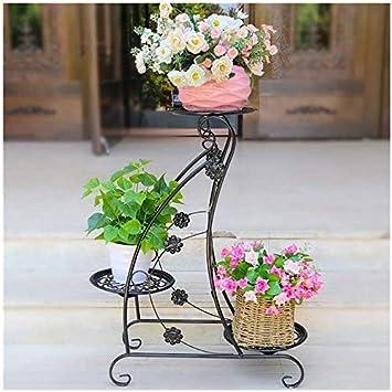 chishizhenxiang Hierro Forjado Jardín de Flores Sala de Estar al ...
