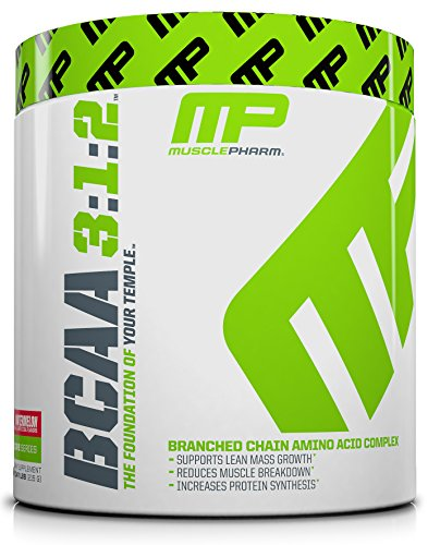 MusclePharm BCAA Powder, Muscle Recovery, Muscle Building, 6g Amino Acids, Watermelon, 30 Servings (1 Amino Acid)