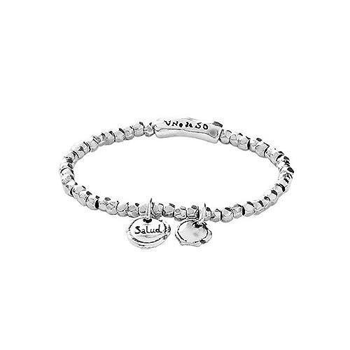 vasta gamma stile squisito comprare in vendita Uno de 50 bracciale elastico lega di argento salud taglia m ...