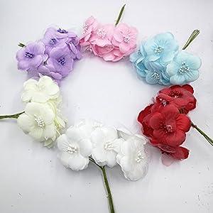 30PCS Dahlia Handmake Silk Artificial Flowers Head For Wedding Party Corsage Decoration DIY Scrapbooking Craft Fake Flowers 99