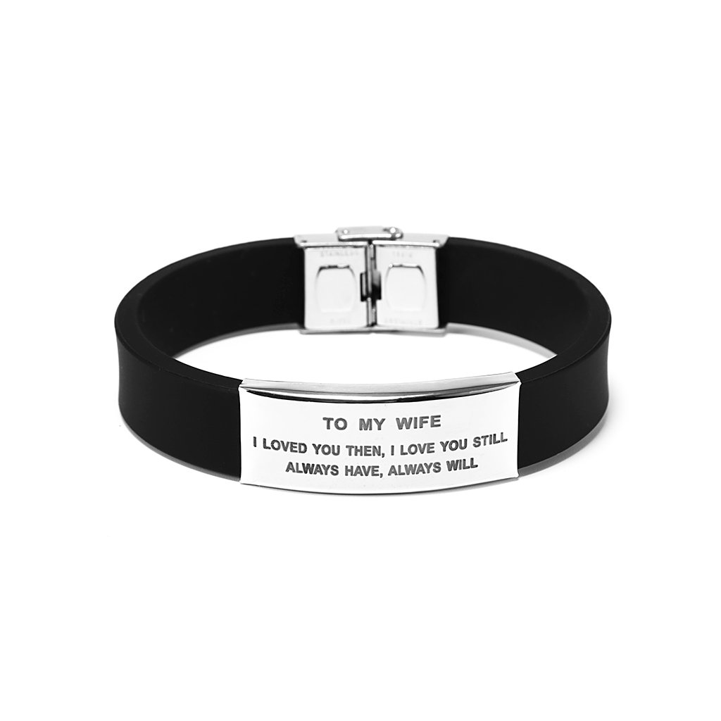 Freedom Love Gift To My Wife I Loved You Then Women Bracelet Jewelry Gift for Her from Husband (Black)