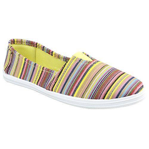 Yellow Shoes Striped Womens Divaz Taylor Summer CXwgfUaqn